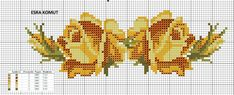 Cross Stitch Borders, Cross Stitch Rose, Cross Stitch Flowers, Cross Stitch Patterns, Loom Beading, Yellow Roses, Bead Crafts, Needlepoint, Hand Embroidery