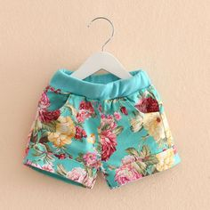 Cheap clothes, Buy Quality clothes arm directly from China clothes texture Suppliers: Shorts For Girls 2016 New Fashion Peony Flower Girls Summer Shorts Elastic Waist Cute Baby Girl Clothes Kids Outfits, Summer Outfits, Casual Outfits, Summer Shorts, My Baby Girl, Pink Girl, Short Infantil, Boys And Girls Clothes, Kids Frocks
