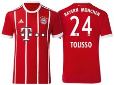 ca1446ca658 Bayern Munich #24 Corentin Tolisso 17-18 Home Short Shirt Sebastian Rudy,  Uefa