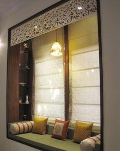 Hightlight your window seating in Zeba Style. The smaller details we add make a lasting impression. Visit Us:- http://www.zebaworld.com/ #InteriorDesign #ZebaWorld