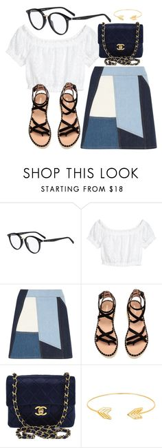 """""""Little Things"""" by smartbuyglasses ❤ liked on Polyvore featuring CÉLINE, Victoria, Victoria Beckham, Chanel and Lord & Taylor"""