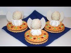 Kleinen Adventskranz aus Süßigkeiten basteln - YouTube