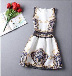 Minikleider - Frauen Retro Blumen kurzes Kleid - ein Designerstück von DIYtime bei DaWanda