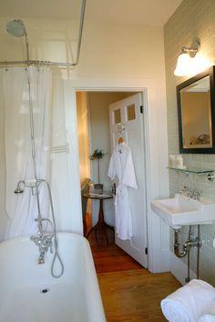 Guest bathroom at Nantucket inn, The Veranda House