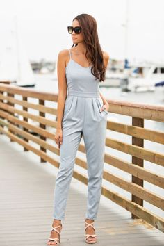 Naomi Light Blue Denim Jumpsuit