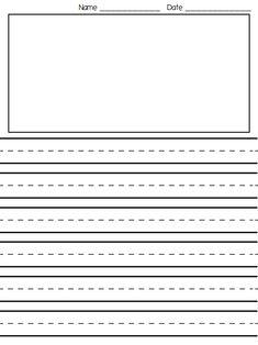 Customized writing paper grade 1