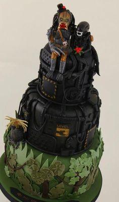 A real boys cake! Alien vs Preditor