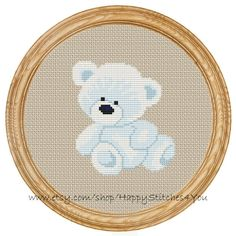 Cross Stitch Pattern PDF polar bear teddy by HappyStitches4You