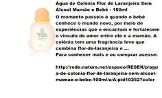 Rede Natura Espaco Resek: Água de Colônia Flor de Laranjeira Sem Álcool Mamã...