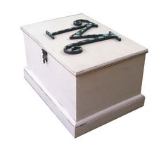 Secret Compartment Keepsake Box With Initial