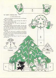 Vintage Christmas Images, Retro Christmas, Holiday Fun, Christmas Holidays, Christmas Meals, Christmas Trees, Christmas Decor, Craft Images, Christmas Paper Crafts