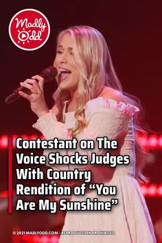 """The Voice is one of the most popular singing talent shows on television. When a young woman took the stage to perform a country rendition of """"You Are My Sunshine,"""" she had all four judges to choose from in the end. #TheVoice #KellyClarkson #BlakeShelton The Voice Of Holland, Nbc Tv, Classic Songs, Blake Shelton, Talent Show, Kelly Clarkson, Adam Levine, John Legend, Judges"""