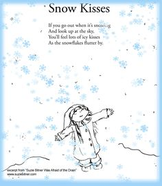 "Cute Snow Kisses! Children's poem for winter. Great for school! Excerpt From ""Suzie Bitner Was Afraid of the Drain""."
