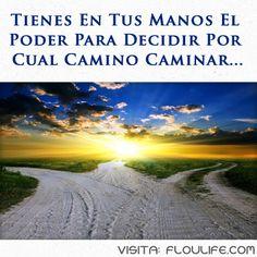 Siempre tienes en tus manos la decisión de elegir por cual camino transitar. Visita: http://floulife.com/actitud-mental-positiva/
