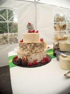 A huge thank you for the delightful wedding cheese cake.  The cheese looked and tasted amazing and some people enjoyed trying new cheeses.  The cheese cake tower was so popular I didn't even get a bite of the Finns. The delivery was faultless too.  N. Patter