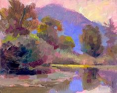 Love the work of Valerie Collymore   Snoqualmie Morning, USA by Valerie Collymore Oil ~ 8 x 10 inches