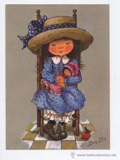 POSTAL *MARY MAY* - MECIENDO A LA MUÑECA (Postales - Dibujos y Caricaturas)