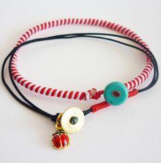 Πασχαλίτσα και δώρο Μάρτης! Diy Jewelry, Jewelry Bracelets, Handmade Jewelry, Evil Eye Jewelry, Girls Accessories, Bracelet Designs, Anklets, Handmade Bracelets, Washer Necklace
