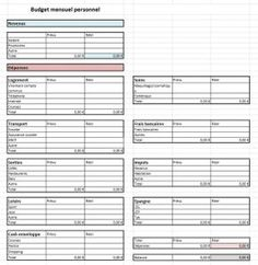 Budget mensuel excel modifiable