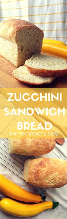 I was searching for a way to use up all of my zucchini without making the typical sweet type of bread. This sandwich bread hits the spot. It's easy to make, fits in your mixer, and your kids won't even notice there's zucchini. Win!