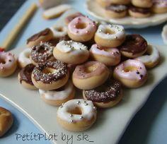 Miniature Food Dollhouse - Polymer Clay Mini Food Donuts by PetitPlat - Stephanie Kilgast, via Flickr
