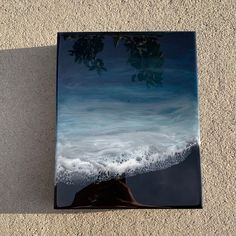 resin art Resin Seascape How To Buy A Pe Resin Wall Art, Resin Artwork, Acrylic Pouring Art, Resin Crafts, Cardboard Crafts, Cork Crafts, Easy Crafts, Seascape Paintings, Resin Paintings