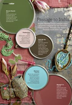 Passage to India Paint Color Palette from Better Homes and Gardens