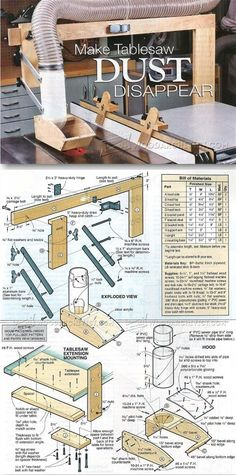 DIY Table Saw Dust Collector - Table Saw Tips, Jigs and Fixtures | http://WoodArchivist.com