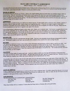 8 Best Daycare Ideas Images Preschool Daycare Contract Daycare Forms