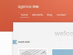 Dribbble - Website by Agence Me