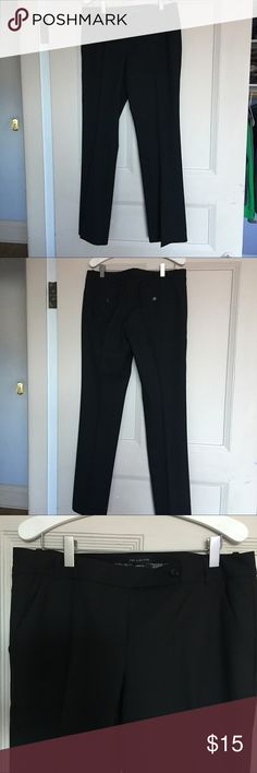 Limited Black dress slacks The Limited Drew fit black slacks 8R with front side pockets and back pockets with a button. Sit low on hips with straight hips and thigh.Like new condition. Maybe worn once or twice. The Limited Pants Straight Leg