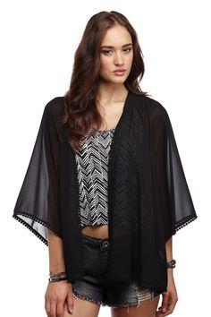 rosie festival trim kimono BLACK , ordered this :)