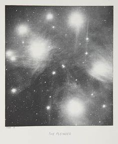 The Pleiades. KEELER, JAMES EDWARD, b.1857 - 1900.  Photographs of Nebulae and Clusters made with the Crossley Reflector, 1900.  13.5 x 15 cm. Photogravure