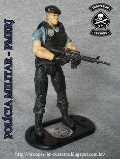 Gi joe Custom Action Figures: Custom Gi Joe - Boneco da PMERJ