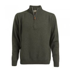 A soft lambswool zip in a moss green coloured wool. These jumpers are a regular fitting garment. Features include - tonal wolfhound embroidered on the chest and leather tab on zip. Chocolate Color, Wolfhound, Knitwear, Menswear, Jumpers, Mens Fashion, Zip, Suits, Stylish