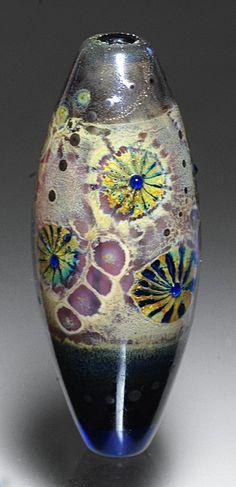 pink hanabi lampwork bead - michael barley #lampwork