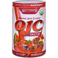 Certified Organic Juice Cleanse (OJC) - Red Berry Day Supply, from Purity Products Best Smoothie Recipes, Healthy Diet Recipes, Healthy Smoothies, Organic Juice Cleanse, Body Cleanse Diet, Juicing Benefits, Weight Loss Smoothies, Organic Recipes, Superfoods