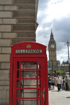 Big Ben, red telephone box, London