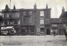 Churchgate 1890 Vintage Pictures, Old Pictures, Bolton Lancashire, Salford, Small Towns, Manchester, Maps, Photographs, England