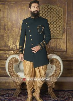 Imported Fabric Wedding Indo Western. #rajwadi #Indowestern #trendy #mensfashion #menswear #weddingparty #designeroutfits Sherwani For Men Wedding, Wedding Dresses Men Indian, Groom Wedding Dress, Sherwani Groom, Groom Dress, Wedding Bride, Mens Indian Wear, Mens Ethnic Wear, Indian Groom Wear