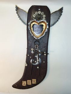 I made this for my mom with an old machete blade #AlteredArt  #FoundObjectArt Found Object Art, Assemblages, My Mom, Altered Art, Bottle Opener, Blade, Bottle Openers, Llamas