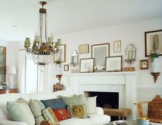 The Most Beautiful Fireplace Mantels | White Mantels | Part I - laurel home | Windsor Smith