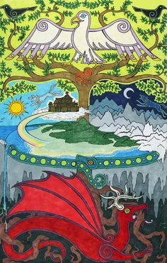 """Some people like to celebrate 22nd April as Yggdrasil Day. This is not a historically attested festival, but is something from the modern """"neo-Heathen"""" path.    It is a day when some modern Heathens contemplate their place within the nine worlds, and the special blessings that nature gives to us. Some like to celebrate by planting a tree, or by making a libation to an ash tree.     So if you celebrate Yggdrasil Day, I wish you blessings this day to you and your kin!"""