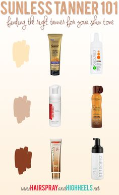 Find the right sunless tanner for your skin tone! #beautytips
