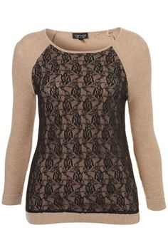 Knitted Lace Front Jumper  <3