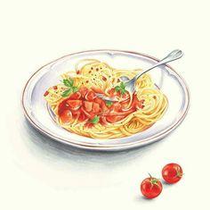 Spaghetti watercolor