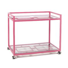 Hampton Bar Cart in Pink - could this be considered for a front hall table??