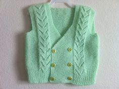 Knitting Baby Vest, Bolero, Knitting Baby Vest, Size: 1 years, Green, Usa Seller. $29,90, via Etsy.