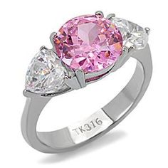 (5/8.5/9.5/10) Beautiful Lab Pink Topaz(Non-Tarnish). Starting at $7 on Tophatter.com!