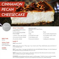 Cinnamon Pecan Cheesecake